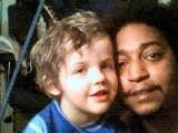 my Fiance Benny and oldest son Xavier